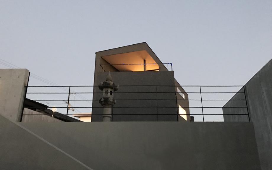 池田の住宅の外構写真