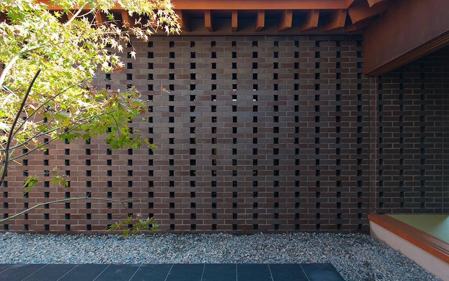 透かし積みレンガブロック使用実例