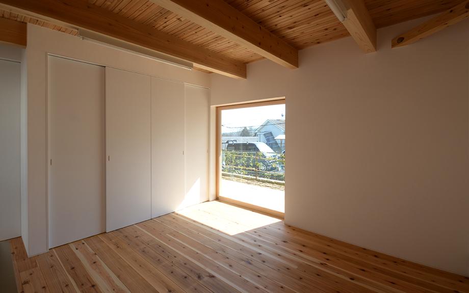 奈良県生駒市にある自然素材住宅、内観実例