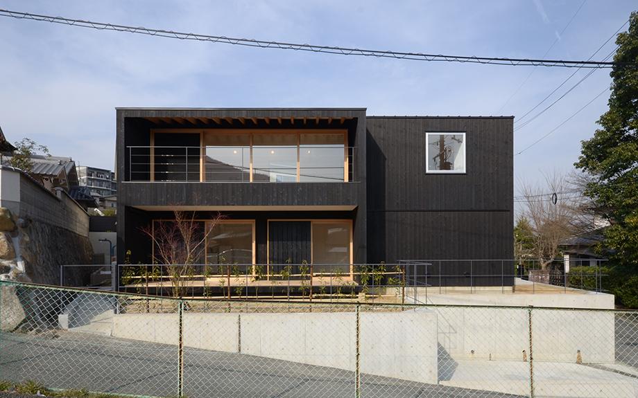 奈良県生駒市にある自然素材住宅、外観実例