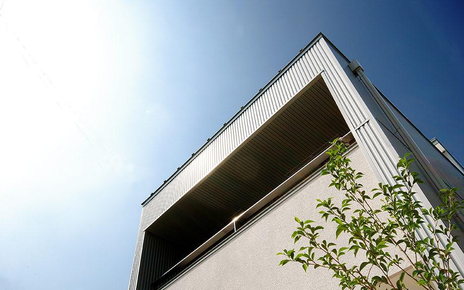 大阪府堺市にある戸建て住宅、外観実例