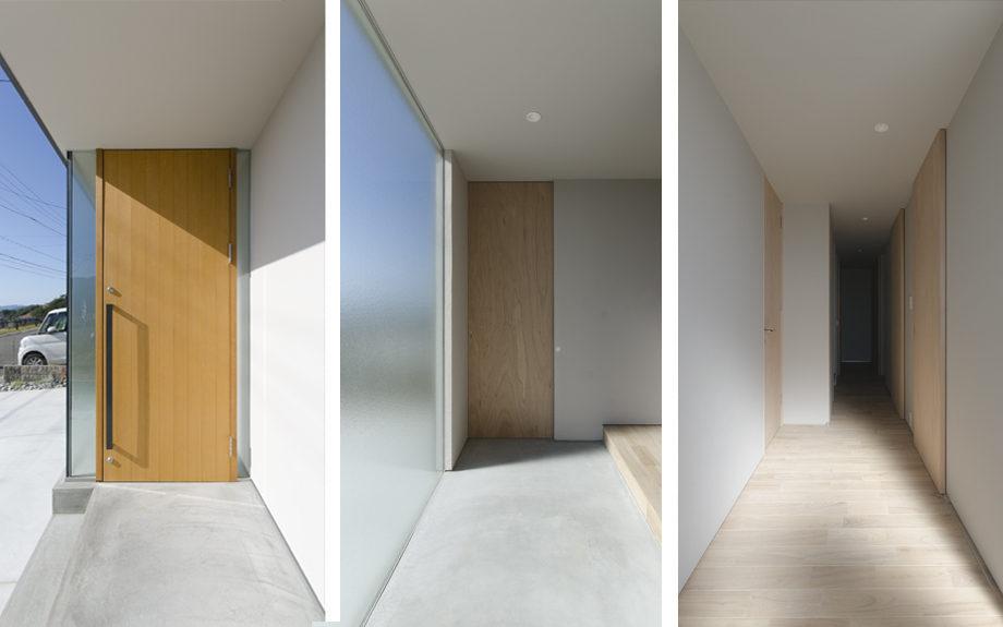 大阪府箕面市に計画された注文住宅,眺望の良い住まい,玄関ホールの写真