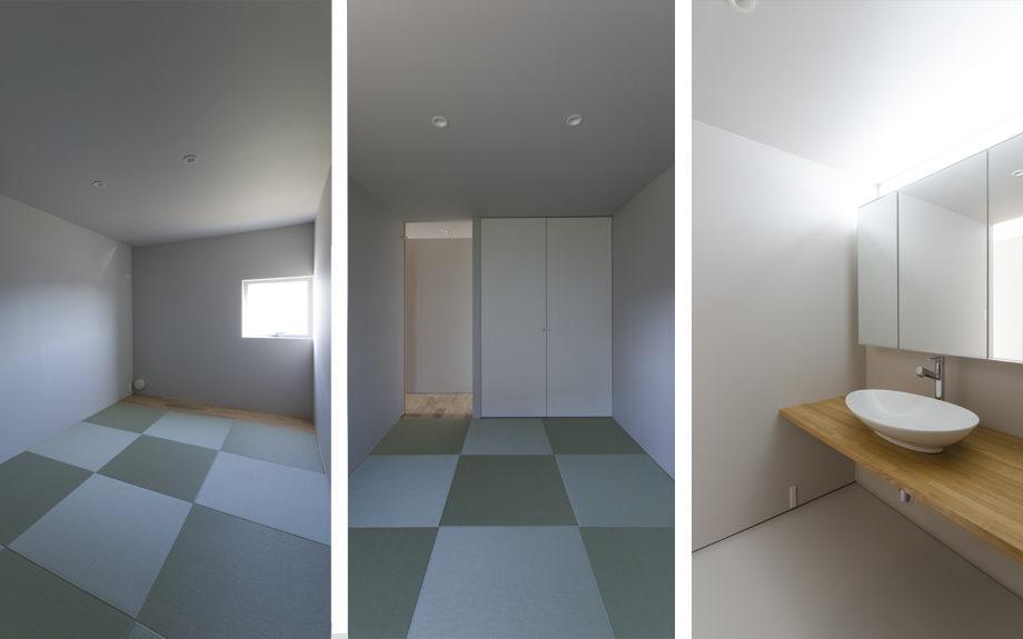 箕面市に計画された注文住宅,眺望の良い住まい,和室の写真