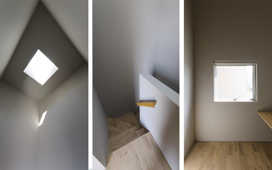 ロフトのある注文住宅,階段の写真