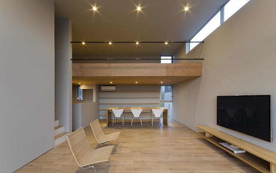 ロフトのある注文住宅,眺望の良い住まい,リビングダイニングの写真