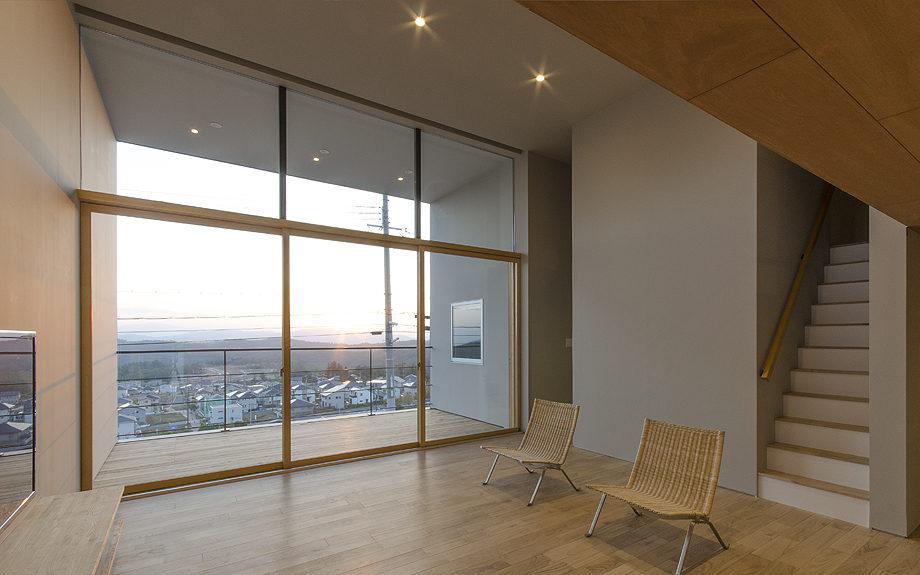 箕面市に計画された住宅,眺望の良い住まい,リビングの写真