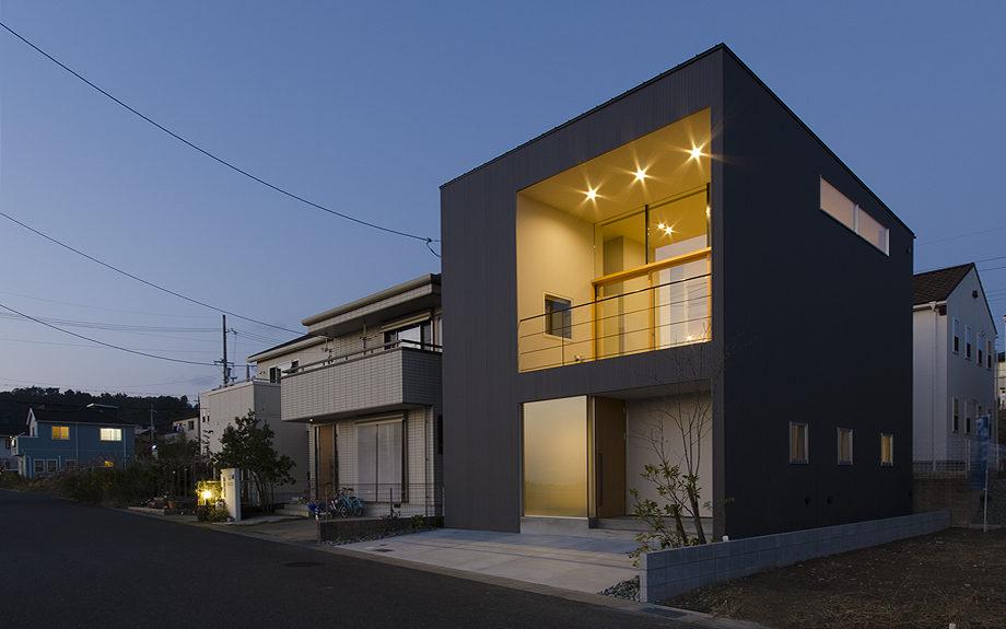 大阪府箕面市に計画された注文住宅,眺望の良い住まい,夕景の写真