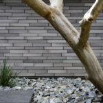 大阪府高槻市に建てられたコートハウス,中庭のある家,レンガ貼りの壁