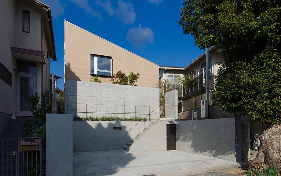 兵庫県神戸市東灘区にある戸建て住宅、外観実例