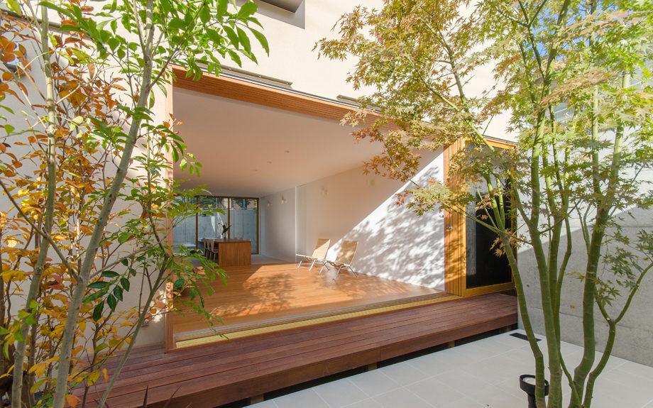 兵庫県神戸市東灘区にある戸建て住宅、内観実例