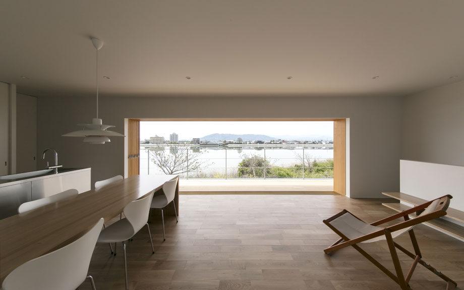 2階リビング, 内観写真, 大開口, 木製建具