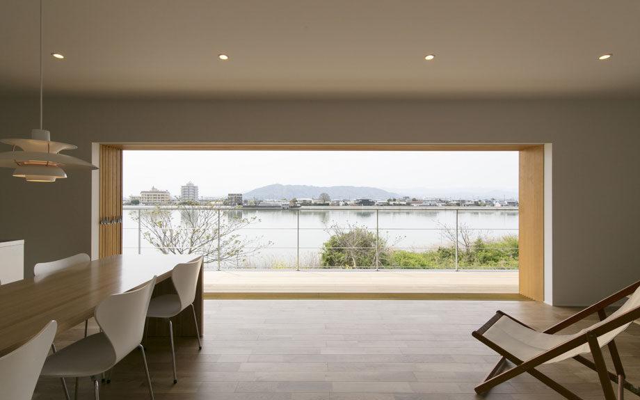 大開口木製建具 , フルオープン , 眺望を活かしたビューテラスハウス