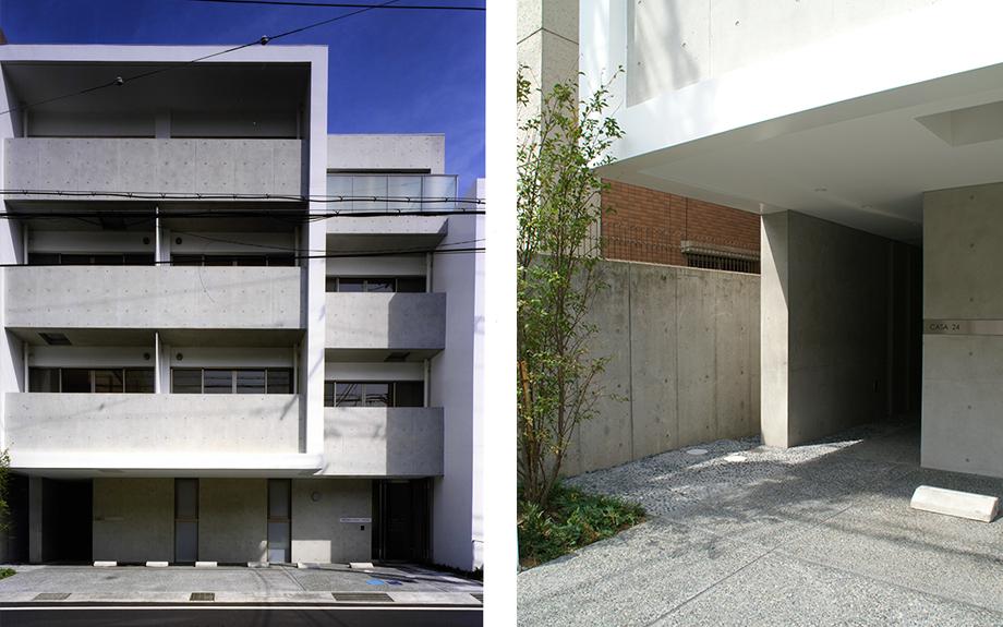 大阪府尼崎市にある医院併用賃貸マンションの外観実例