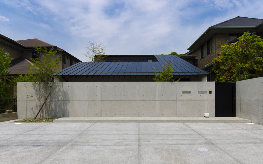 堺市西区にある中庭の家、外観実例