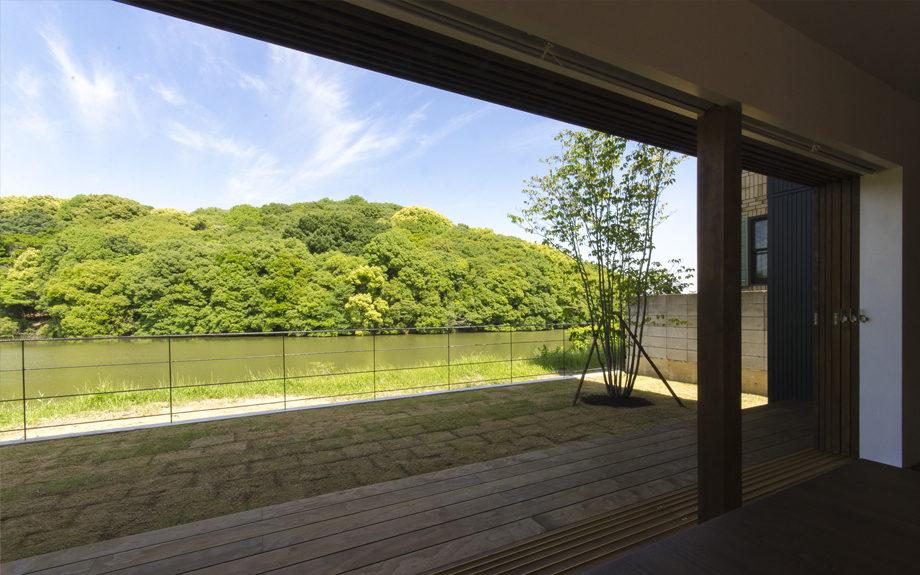 堺市西区にある中庭の家、内観実例