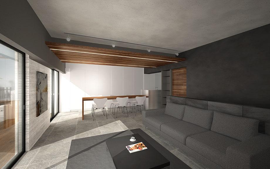 神戸市で設計中のマンションリフォーム内観