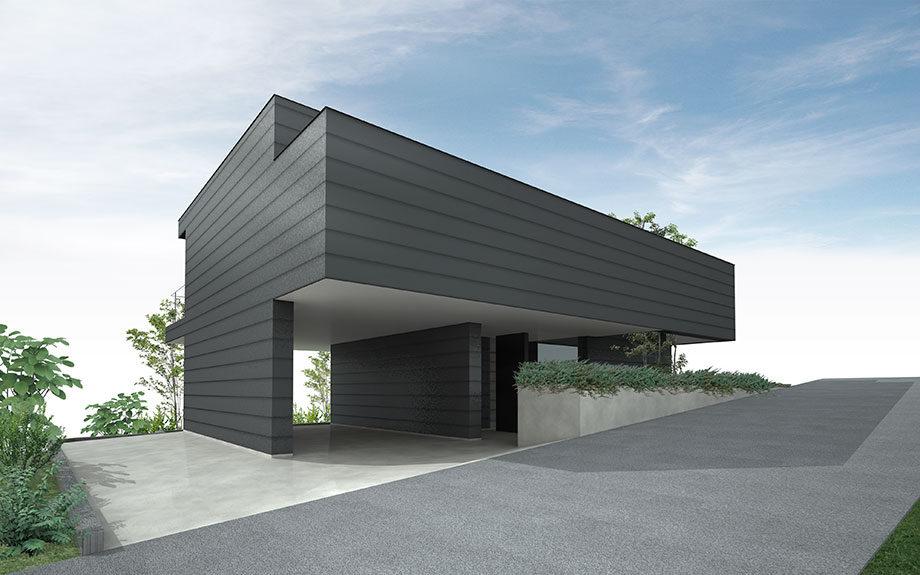 兵庫県明石市に設計中の眺望の良い2階リビング注文住宅外観