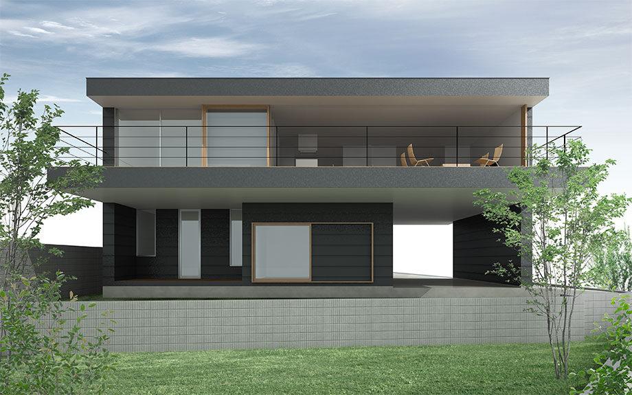 兵庫県明石市に設計中の2階リビング注文住宅外観