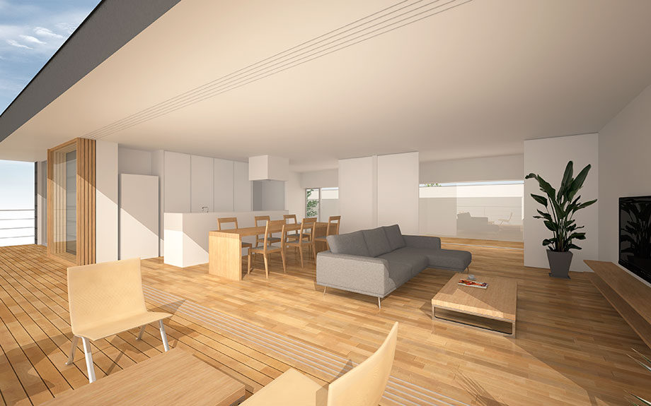 兵庫県明石市に設計中の2階リビング注文住宅内観イメージ