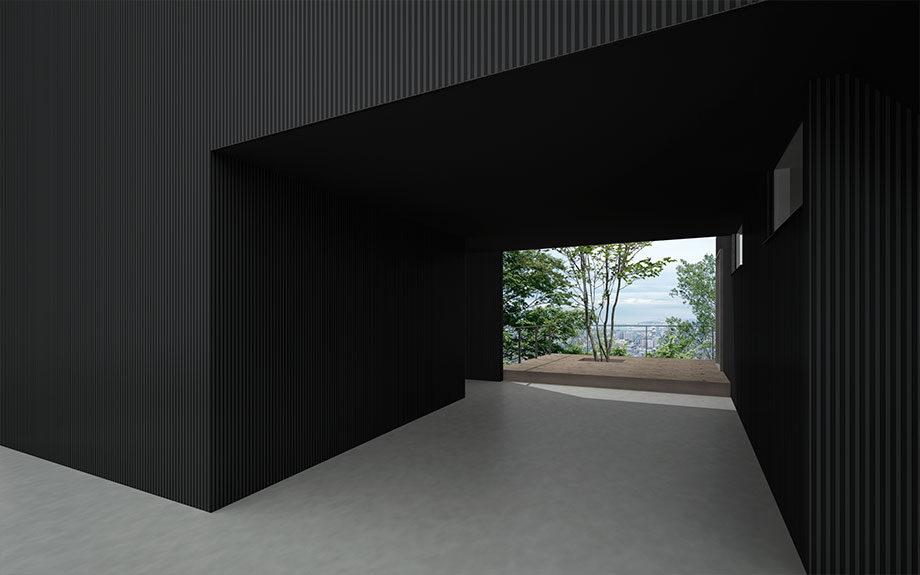 兵庫県神戸市東灘区御影に設計中の眺望の良い注文住宅、外観