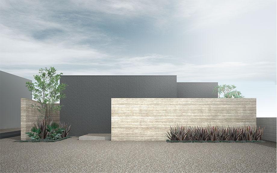 大阪府堺市百舌鳥に計画中のコートハウス外観
