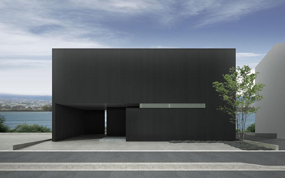 徳島市で計画中の住宅、眺望の良いロケーションに建つ
