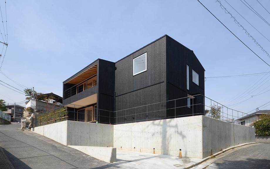 奈良県生駒市にある自然素材の住宅の外観実例写真