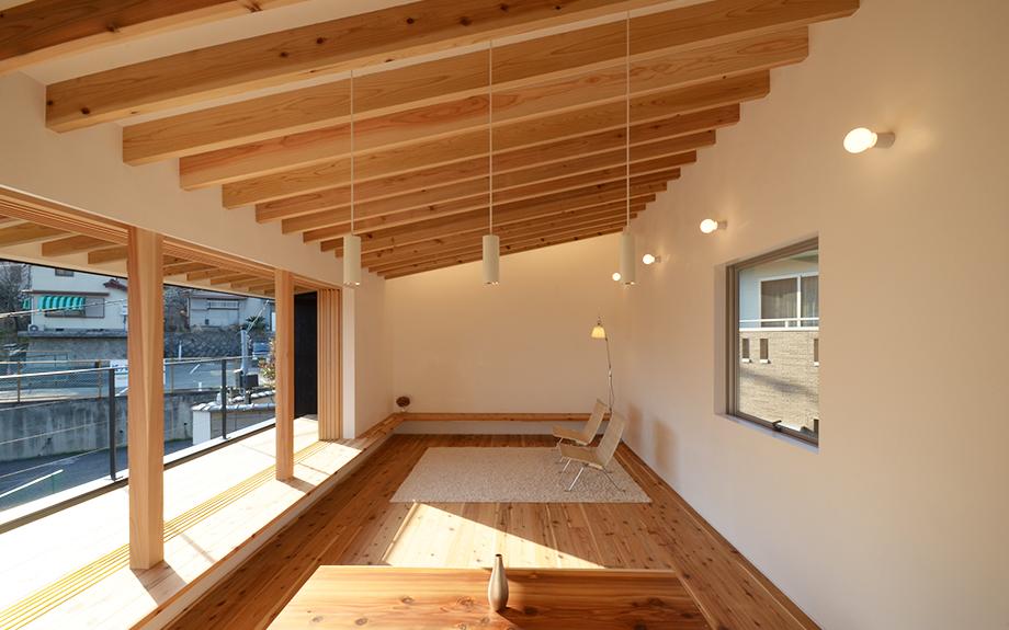 奈良県生駒市にある自然素材住宅の内観実例写真