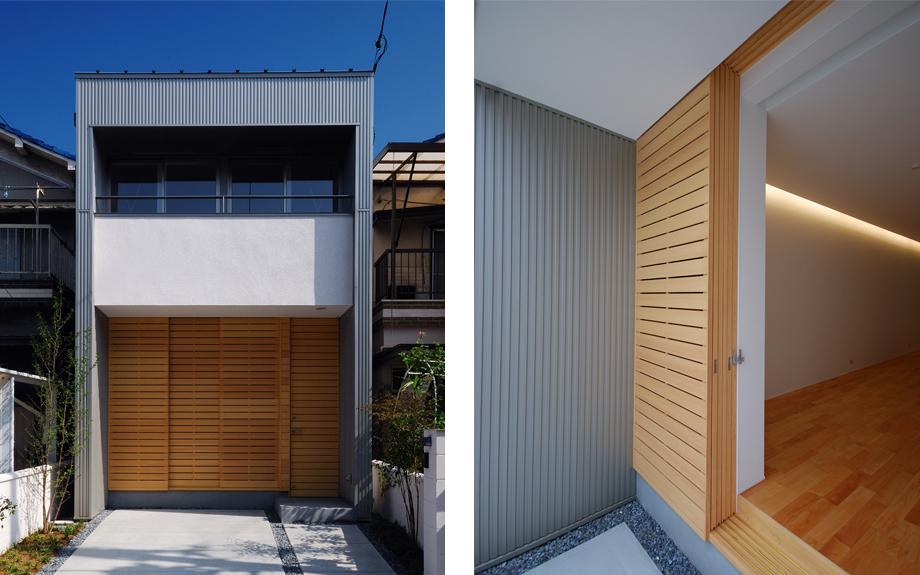 大阪府堺市にある戸建て住宅の外観実例写真