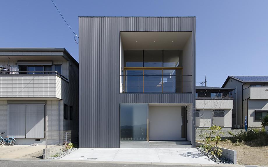 大阪府箕面市に建つビューテラスハウスの外観写真