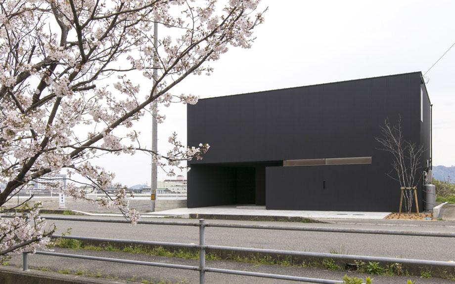 徳島県徳島市に建つビューテラスハウスの外観写真
