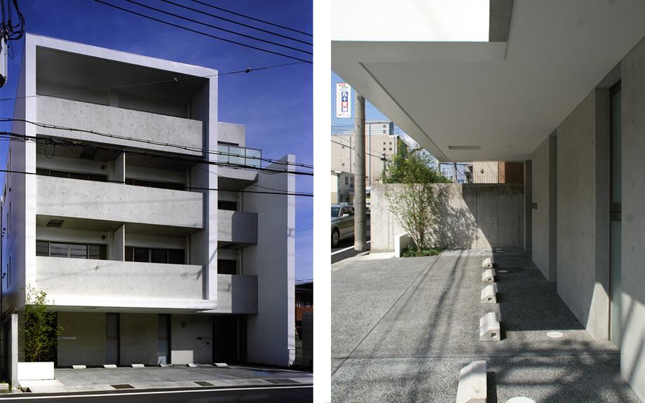 兵庫県尼崎市に建つ医院併用デザイナーズ賃貸マンションの外観写真