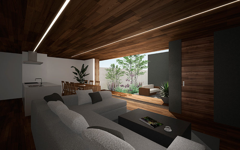 芦屋市に計画された中庭をもつ住宅,コートハウス