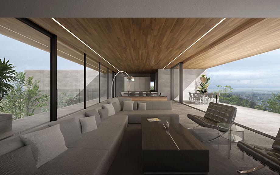 芦屋市に設計中の眺望を活かした豪邸