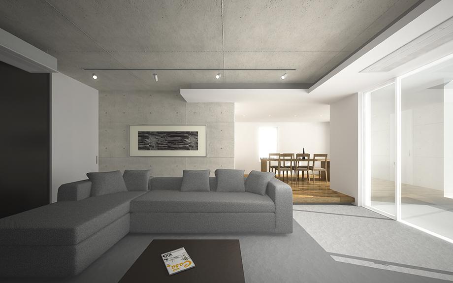 神戸市東灘区に計画中のマンションリフォーム内観イメージ