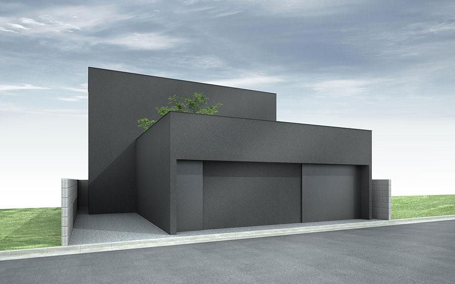 大阪府岸和田市で計画中の注文住宅,ガレージハウス,中庭のある家,コートハウス